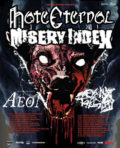 Hate Eternal, Misery Index, Aeon, See You Next Tuesday