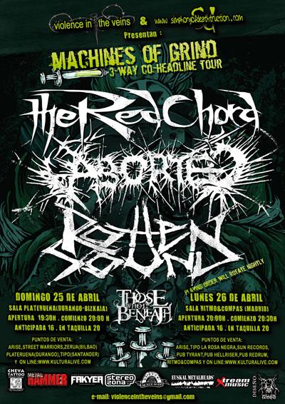 Aborted + The Red Chord + Rotten Sound + Those Who Lie Beneath