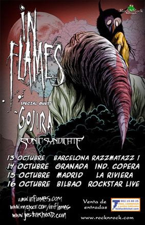 IN FLAMES + GOJIRA + SONIC SYNDICATE