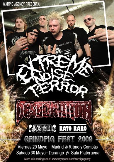 Extreme Noise Terror + Desecration + Nashgul + Rato Raro