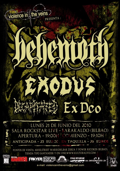 Behemoth, Exodus, Decapitated, Ex Deo: Live @ Rock Star