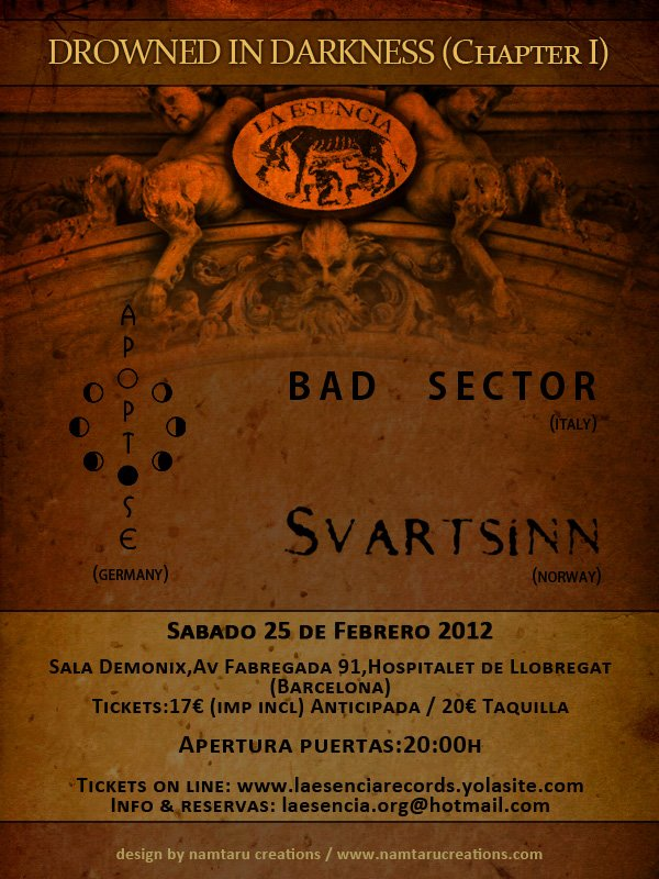 Drowned in Darkness (Chapter l) BAD SECTOR + SVARTSINN + APOPTOSE